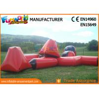 Cheap multi - color 0.6mm PVC Tarpaulin Inflatable Barriers For Paintball Sports wholesale