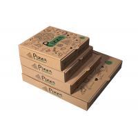 Recycled Pizza Packaging Boxes, Printed Brown Cardboard Food BoxesWith Free Sample