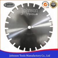 Cheap 400mm Laser Welded Diamond Blades , Dry Wet Saw Blades For Highway / Road Works wholesale