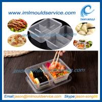Cheap disposable 2 compartment plastic thin wall food container mould with 650ml wholesale
