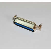 Cheap DDK 14 24 36 50 64Pin Male Centronic Solder Contacts Connector With board lock wholesale