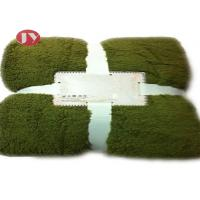 Cheap Custom Sherpa Polyester Fleece Blanket With selectable plain Colors Eco - Friendly wholesale