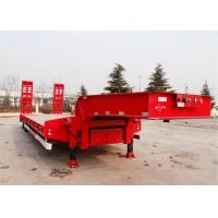 Cheap CIMC 60 t hydraulic low bed trailer excavator transport semi trailer dimension of 16m 3 axles wholesale