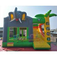 Cheap SGS TUV Inflatable Bouncer Slide / Blow Up Trampoline With Slide Jumping Bouncer wholesale