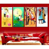 Interior with decoration oil painting