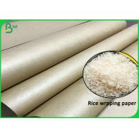 Cheap Hard Burst Strength Rice Wrapping 80G 90G Uncoated Brown Papel Kraft Roll wholesale