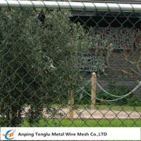 Cheap Chain Wire Fencing|Chainlink or Chainmesh Made by Steel Wire 25mmx2.0mm Specification wholesale