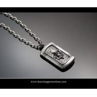Cheap silver shinny laser cut custom shape stainless steel dog tag for handbag wholesale