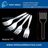 Cheap PP White 6 inch Disposable plastic fork for Western food/ fruit cake moulding wholesale