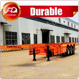 Cheap Shandong Fudeng 40T 40ft China Cheap Skeleton Truck Trailer Semi Trailer for Sale wholesale