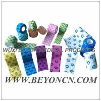 Buy cheap Pattern Imprinted Cohesive Flexible Sports Tape / Colored Athletic Tape for knee from wholesalers