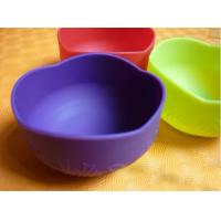 Cheap Colorful Silicon Kitchenware Utensils / Cookware, Non-toxic Foldable Silicone Baby Bowl wholesale