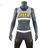 Cheap Custom Sublimated School Cheer Dance Clothes Bra And Shorts Eco Friendly wholesale
