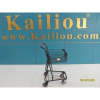 Quality 40L Singel Basket Grocery Shopping Trolley 2 front swivel caster 2 rear fixed casters for sale