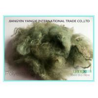 Cheap Light Green Spun Dyed Polyester Staple Fiber 1.5 Denier X 38MM For Spinning wholesale