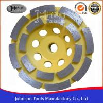 Soft Medium Hard Bond Concrete Grinding Wheel For Fast Grinding Double Row
