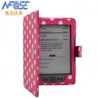 Cheap Side - Open Folio PU Amazon Kindle Protective Case With Clasp Pink Colour wholesale