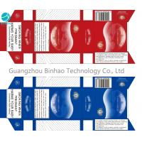 Buy cheap Red Blue Paper Custom Cigarette Case Smoke Pack With Personality Design from wholesalers