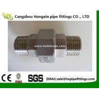 Cheap BSP / NPT Threaded Screwed Stainless Steel Pipe Fitting Union / Elbow Fitting wholesale