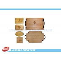 Cheap OEM Display Accessory Wood Engraving Logo Paint Finished , Customize Size wholesale