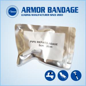 China Industry 2inch Black Repair Bandage Cast Bandage Handale Tube Repair Bandage CE Certificate Fiberglass Armor Wrap Tape on sale