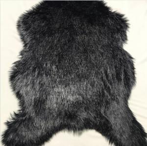 Cheap Soft Plush Faux Fur Rug Low Shed Classsic Black Luxury Long Pile Shag wholesale