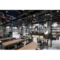 China Bookstore cultural Museum Design in Nordic style Furniture Walnut wood Counters and in Wall Bookcase cabinet on sale