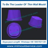 Cheap The highest quality thin wall plastic cup injection mould, IML thin wall container molding wholesale