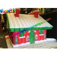 Cheap Custom Oxford Inflatable Christmas Decorations Santa Claus House wholesale