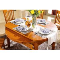 China modern round extendable solid wood dining table set on sale