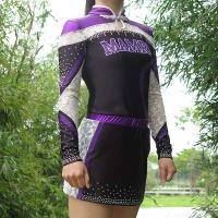 Cheap Quick Dry Purple All Star Cheer Uniforms With Customized Patterns wholesale