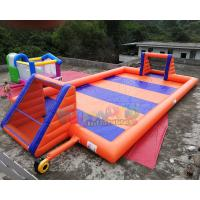 Cheap 16x8 Meter Inflatable Soccer Arena / Inflatable Soap Football Field wholesale