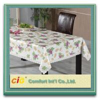Custom Printed Popular Modern PVC Table Cloths with Non-woven Fabric Backing