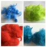 Cheap Dope Dyed Staple Recycled Pet Fiber 2.5D - 15D Staple Fiber For Non Woven wholesale