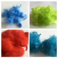 Dope Dyed Staple Recycled Pet Fiber 2.5D - 15D Staple Fiber For Non Woven