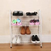 Cheap H270 Durable Steel Metal Mesh Shoe Rack Quick And Easy Assembly White Color wholesale