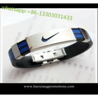 Buy cheap Eco-friendly 100% Custom silicone bracelets with debossed logo from wholesalers