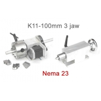 Cheap K11-100mm Chuck 3 Jaw CNC 4th Axis Hollow Shaft CNC Dividing Head For CNC Router wholesale