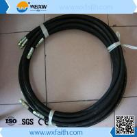Cheap SAE100 R6 High pressure hydraulic rubber hose/ hydraulic oil hose/ fuel hose with joint wholesale