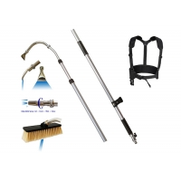Buy cheap Max 16 Bar Aluminum Telescopic Gutter Cleaner With Nylon Soft Brush from wholesalers