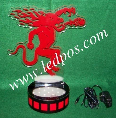 Quality Fireball Cinnamon Whiskey LED Light Up Demon Back Bar Bottle Glorifier for sale