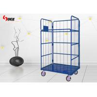 China Warehouse Roll Container Trolley  / Metal Storage Cage With Wheel on sale