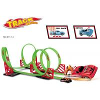 Cheap 360° Rotation 115 CM Toy Race Car Track Sets 4 Loops 1 Pull Back Vehicle wholesale