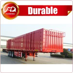 Cheap Shandong Fudeng Coal transporting dry van type box truck Enclosed cargo semi trailer wholesale