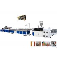 Cheap TPU / TPR / TPE PVC Plastic Profile Making Machine For Ceiling and Decking wholesale