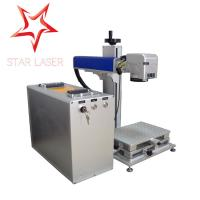 Blue 10W Fiber Laser Marking Machine , Pipe Laser Marking Engraving Machine