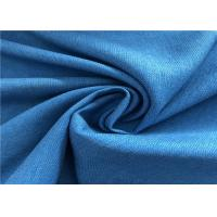 Cheap Blue Twill Fade Resistant Outdoor Fabric Good Color Fastness Breathable For Winter Coat wholesale