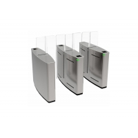 Cheap SS304 550mm Width 40person/Min Double Wing Turnstiles wholesale