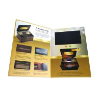 Cheap Smart Video Brochure HD Screen Inserted A5 Portrait Folder Size 350gsm Paper Material wholesale