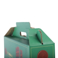 Cheap Custom 6 4 Bottle Printed Corrugated Paper Box For Wine Beer Carrier wholesale